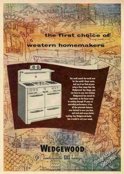 Wedgewood Gas Ranges for Western Homemakers (1952)