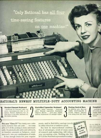 National Cash Register Accounting Machine Ad C (1957)