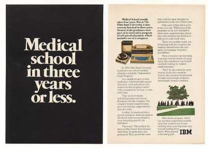 Three Year Medical School IBM Computer (1973)