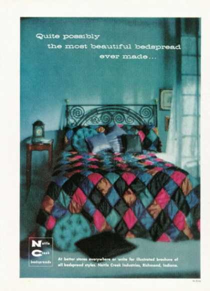 Nettle Creek Bedspread Fashion (1958)