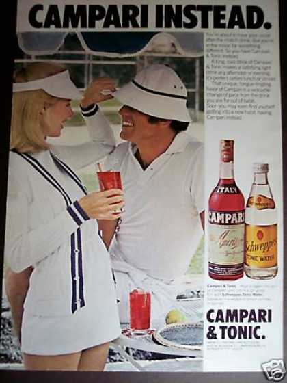 Tennis Fashion Photo Campari & Tonic (1977)