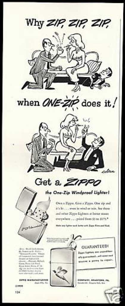 Zippo One Zip Windproof Cigarette Lighter (1950)