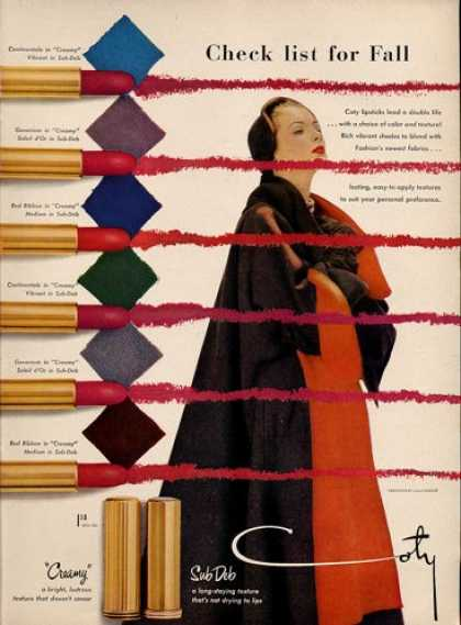 Coty Sub Deb Fashion Lip Stick (1951)