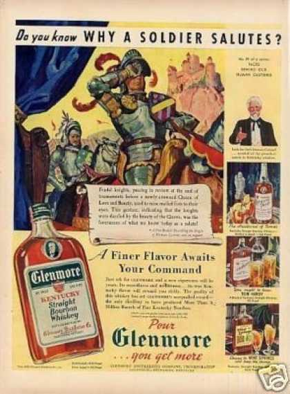 "Glenmore Bourbon Whiskey Ad ""Why a Soldier... (1940)"