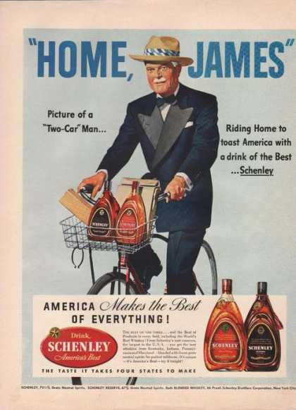 """Home James"" Schenley Whiskey (1942)"