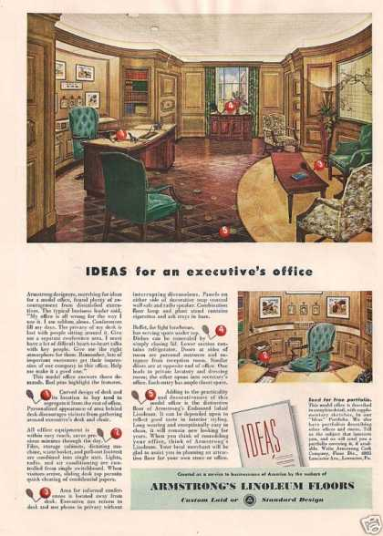Armstrongs Linoleum Floors for Office (1948)