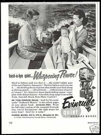 Evinrude Outboard Boat Motor Baby Photo (1954)