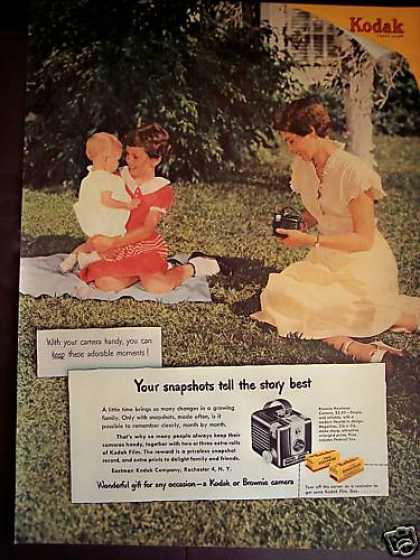 Kodak & Brownie Hawkeye Cameras Family Photo (1950)