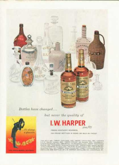 Harper Whiskey Bottle Collection (1958)