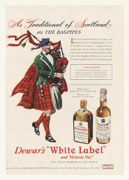 Dewar's White Label Scotch Clan MacGregor (1947)