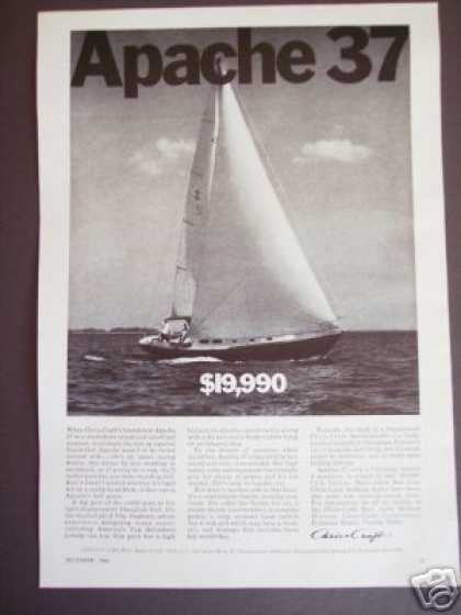 Chris Craft Apache 37 Sailboat Boat Photo (1966)