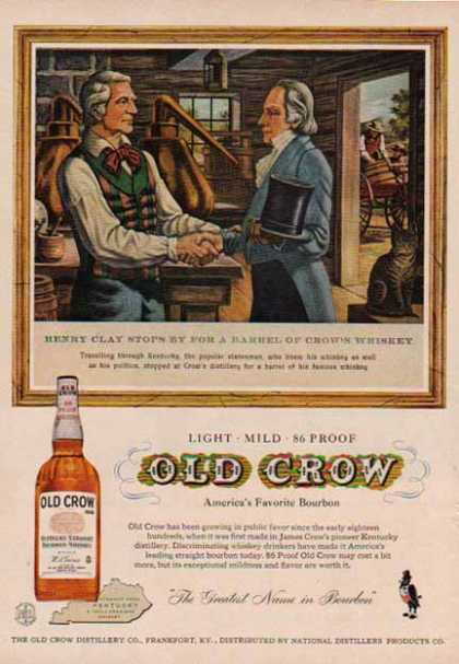 Old Crow Kentucky Bourbon Whiskey – Henry Clay (1958)