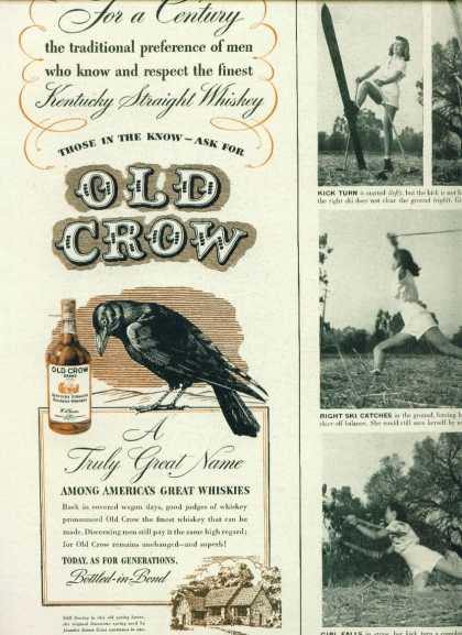 Old Crow Kentucky Straight Bourbon Whiskey C (1960)