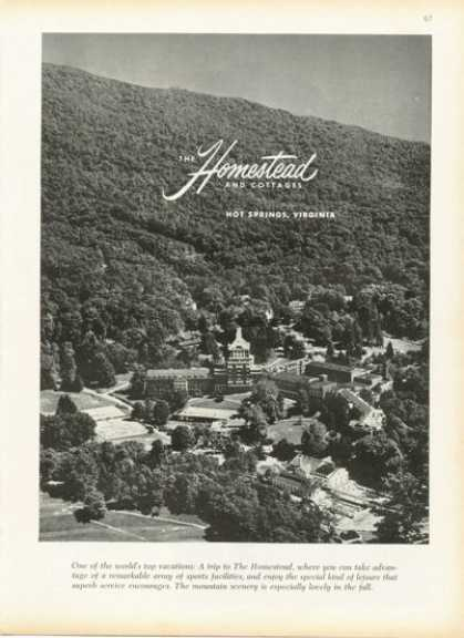 The Homestead & Cottages Hot Springs Virginia (1958)