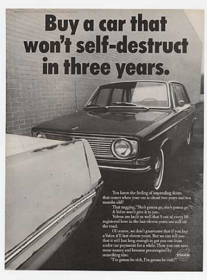 Volvo Car That Won't Self-Destruct in 3 Years (1969)