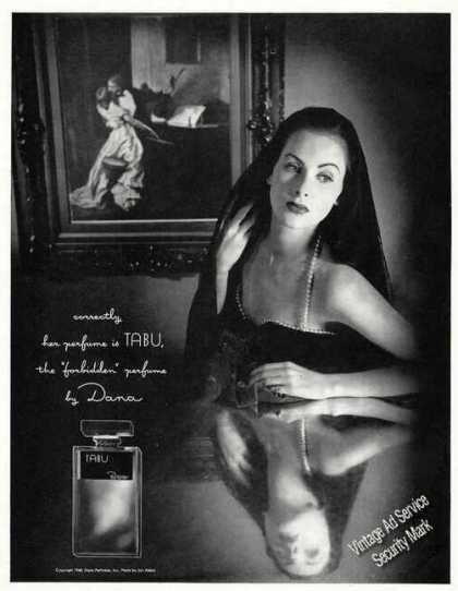 "Tabu ""Forbidden"" Perfume By Dana Pretty Woman (1949)"