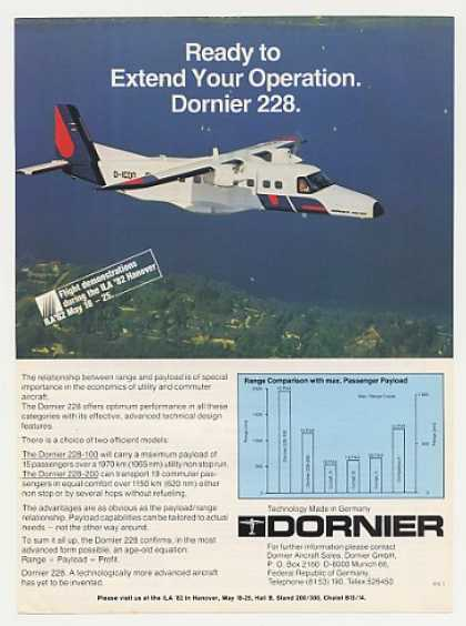 Dornier 228-200 Aircraft Airplane Photo (1982)
