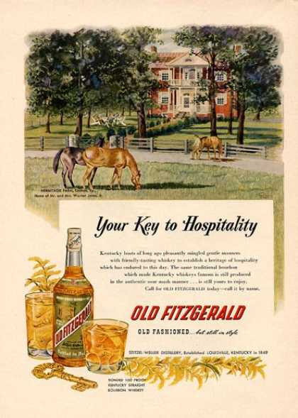 Old Fitzgerald Whisky Bottle (1951)