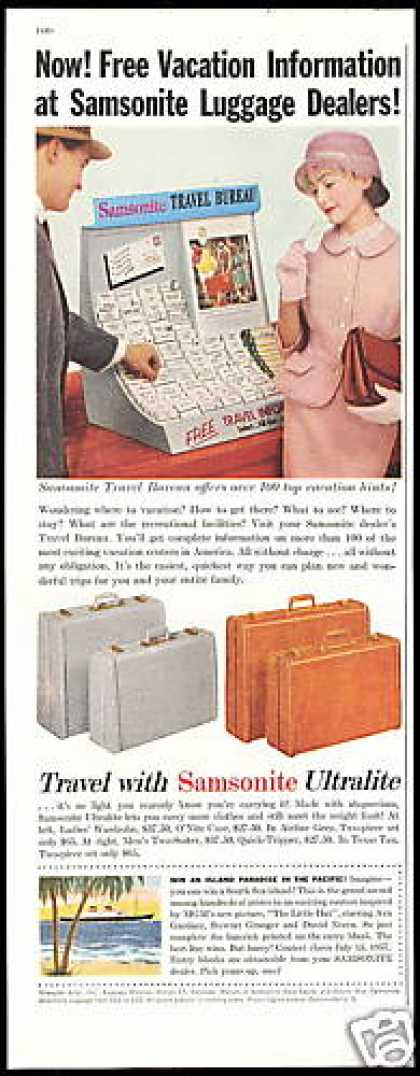 Samsonite Ultralite Luggage Travel Bureau (1957)