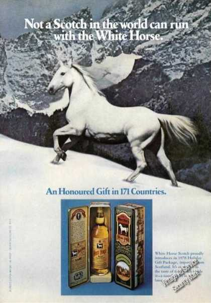 White Horse Scotch Honoured In 171 Countries Adv (1978)