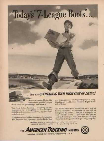 American Trucking Industry – Seven League Boots… (1952)