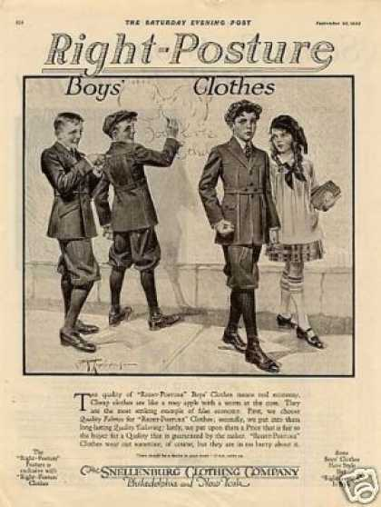 Snellenburg Clothes Ad Leyendecker Art (1920)