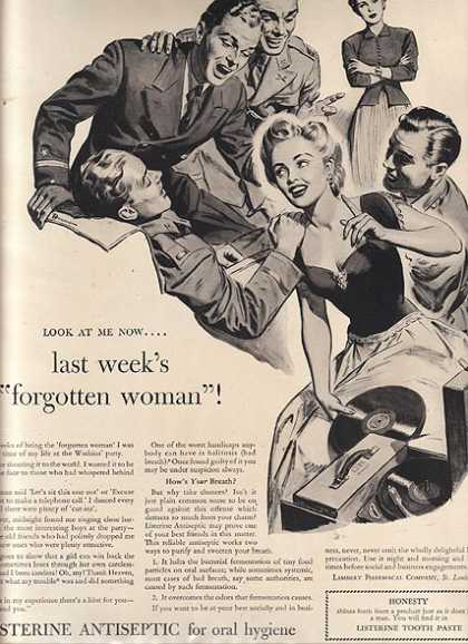 Listerine's Antiseptic for oral hygiene (1942)