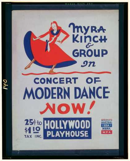 Myra Kinch & group in concert of modern dance now!. (1936)