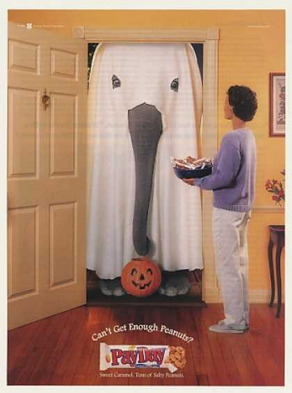 PayDay Candy Bar Elephant Ghost Halloween (2000)