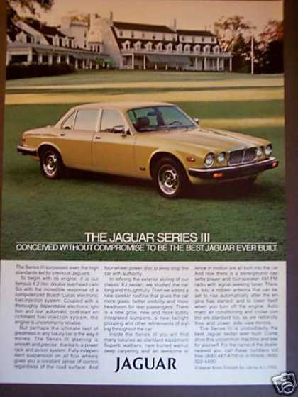 Yellow Jaguar Series Iii Jag Car Photo (1980)