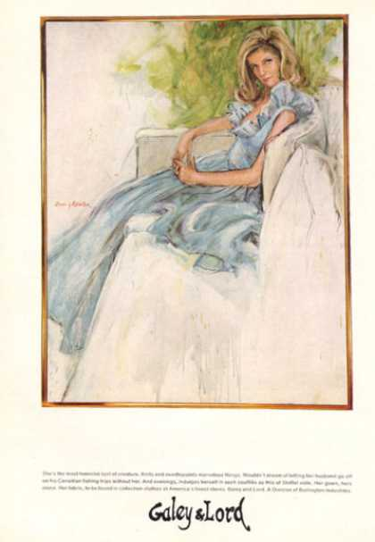 Galey & Lord Fashion Stoffel Voile Gown Art (1966)