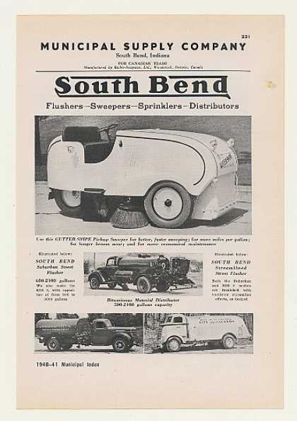 '40 Municipal South Bend Gutter-Snipe Street Sweeper (1940)