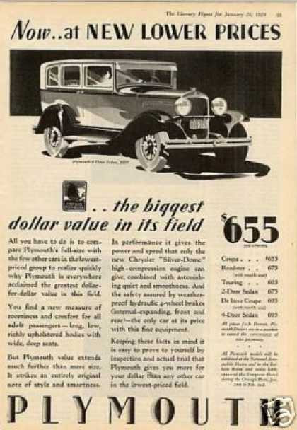 Plymouth 4-door Sedan (1929)