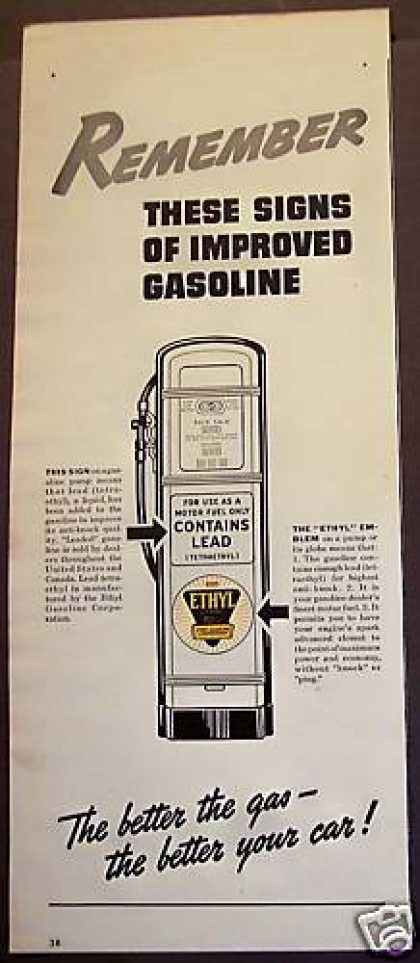 Gas Gasoline Motor Fuel Ethyl (1940)