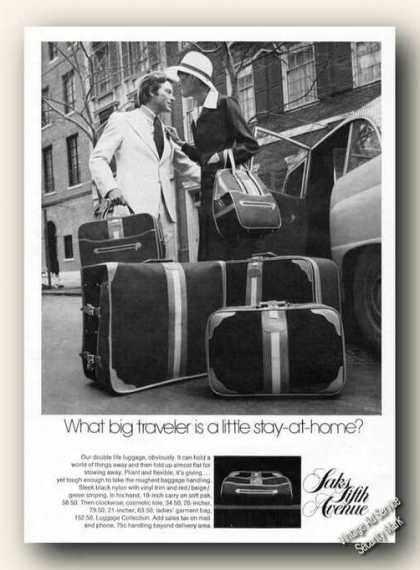 Saks Fifth Avenue Luggage Advertising (1974)