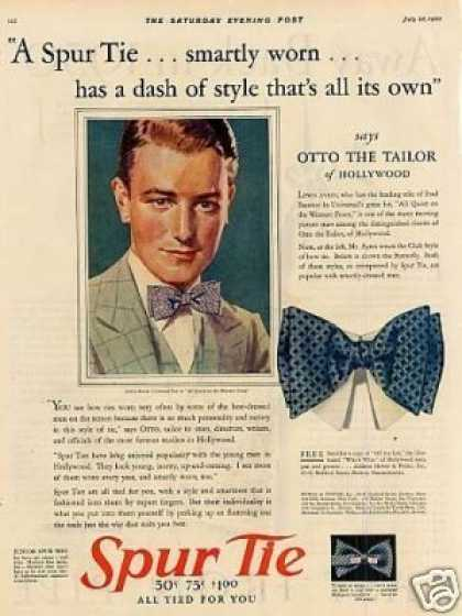 Spur Tie Ad Otto the Tailor (1930)