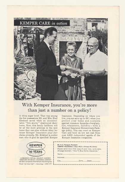 '62 Mr Mrs Fred Kirshner House Fire Kemper Insurance (1962)
