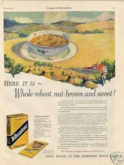 Wheatena Cereal Color (1923)