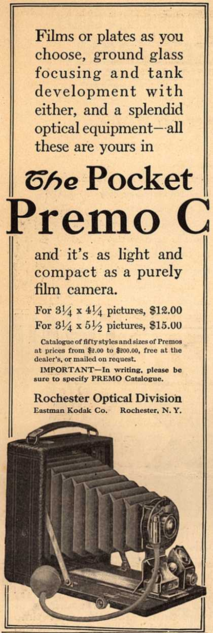 Kodak's Pocket Premo C cameras – The Pocket Premo C (1910)