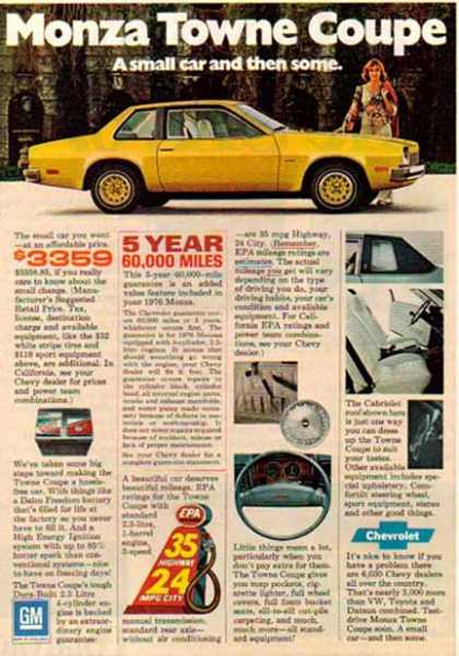 Chevrolet Car – Monza Towne Coupe / Yellow – GM (1976)