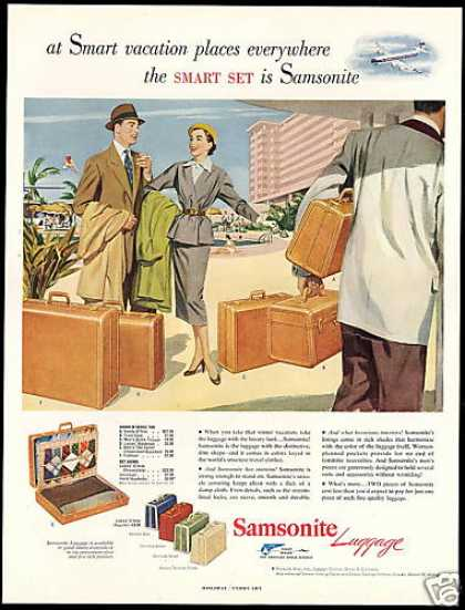 Samsonite Luggage Assorted Styles (1952)