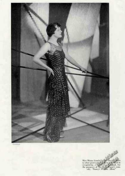"Minnie Gombell of ""Nancy's Private Affair"" Feature (1930)"
