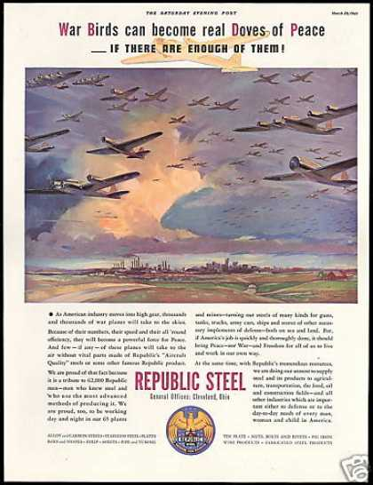 Republic Steel Aircraft Production War Planes (1941)