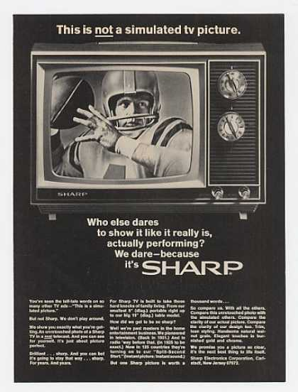 Sharp TV Picture Not Simulated Television (1969)
