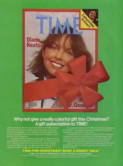 Diane Keaton on Time Holiday Magazine (1977)
