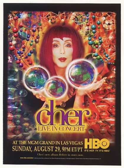 Cher Live in Concert MGM Grand Las Vegas HBO TV (1999)