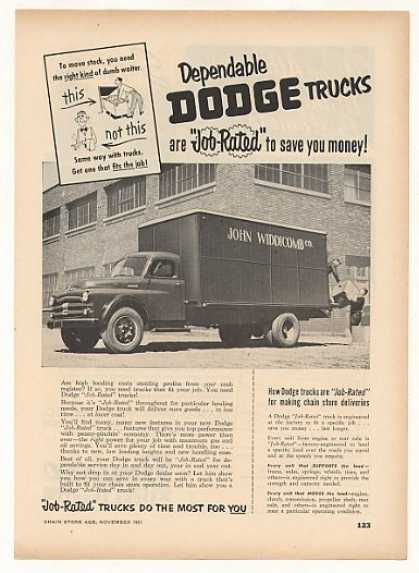 John Widdicomb Co Dodge Job-Rated Truck Trade (1951)