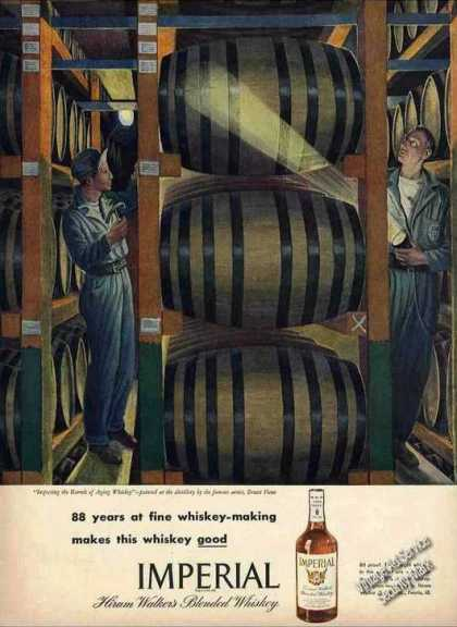 Ernest Fiene Art Nice Imperial Whiskey (1946)