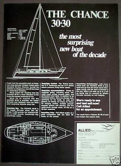 Chance 30-30 Boat Allied Boat Co. (1971)