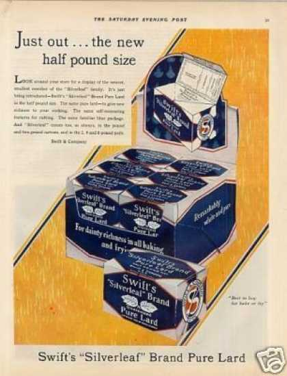 Swift's Silverleaf Lard Color (1929)
